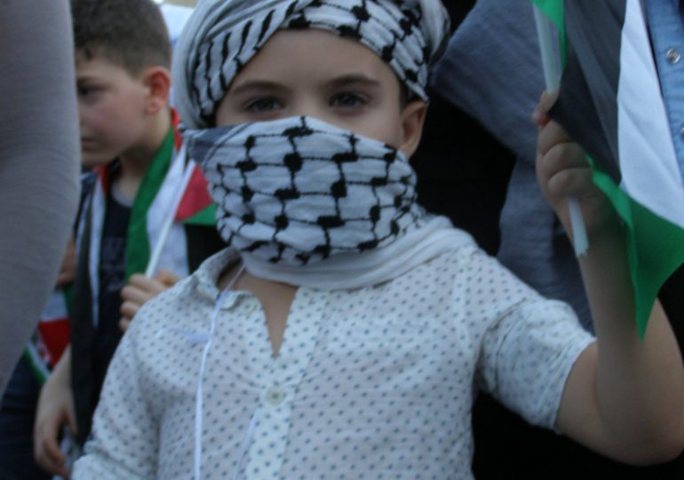 Διαδήλωση Παλαιστινίων στην Aθήνα
