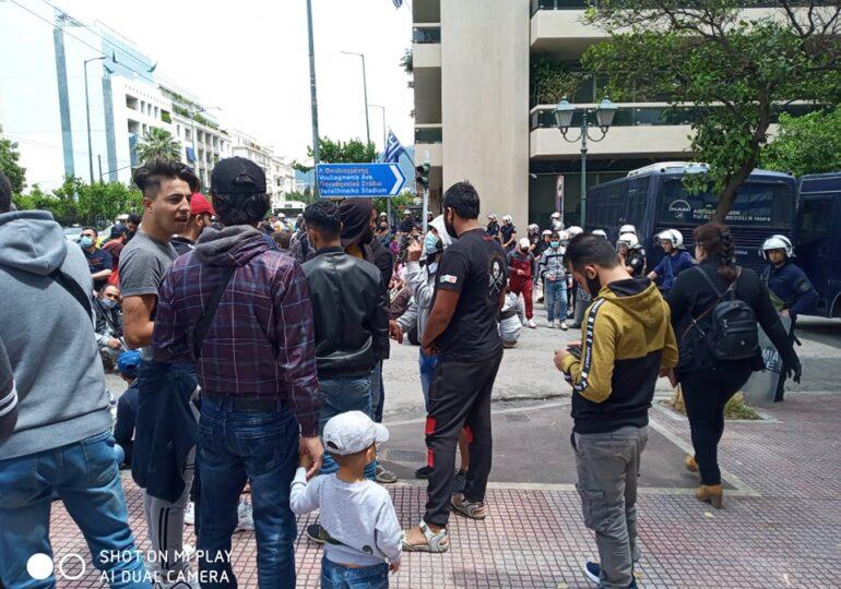 Οι πρόσφυγες λένε ΟΧΙ στις εξώσεις