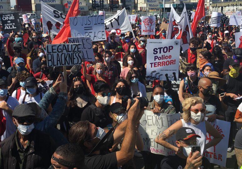 Τα συνδικάτα της Δυτικής Ακτής σε δράση κατά του ρατσισμού & της αστυνομικής τρομοκρατίας