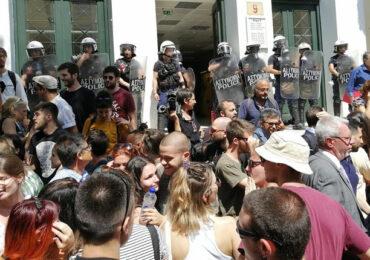Μεγάλη συγκέντρωση αλληλεγγύης για την αθώωση των διαδηλωτών