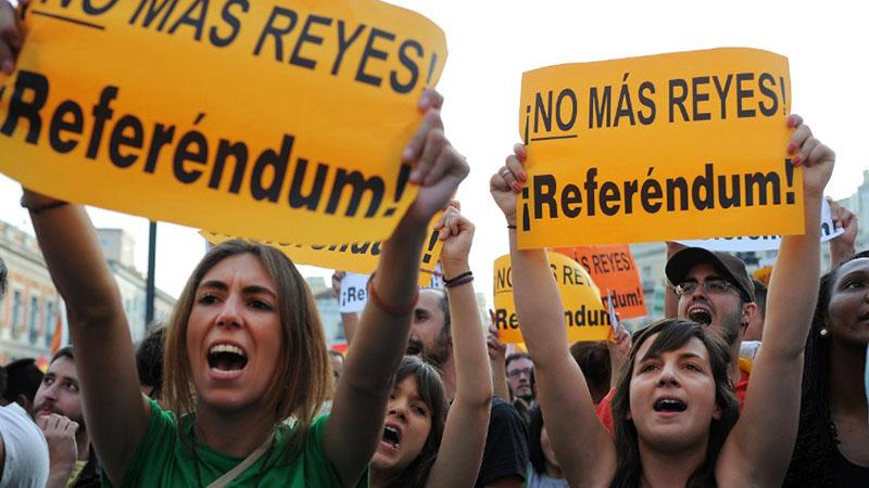 Διαδήλωση κατά της μοναρχίας στη Μαδρίτη