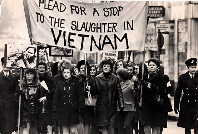 Αντιπολεμική πορεία στις ΗΠΑ το 1968.