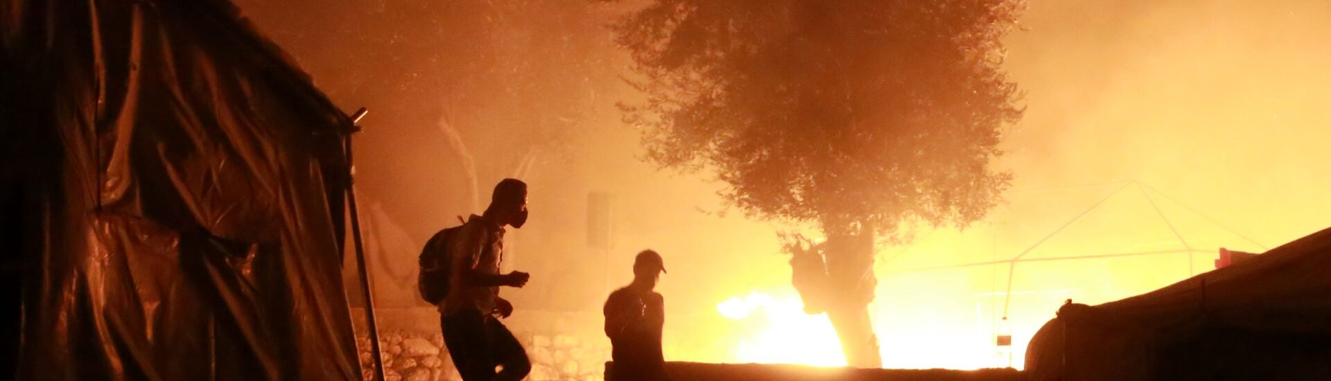 Στις Φλόγες το ΚΥΤ της Μόριας