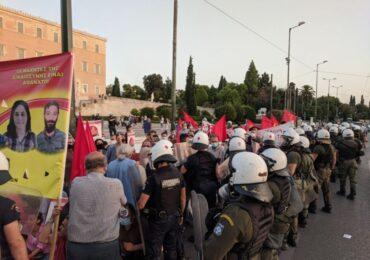 Βίαιη διάλυση της πορείας αλληλεγγύης στους πολιτικούς κρατούμενους της Τουρκίας και στο Grup Yorum