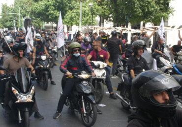 Απεργία ΣΒΕΟΔ: Δυναμική πορεία 1500 μηχανών στους δρόμους της Αθήνας