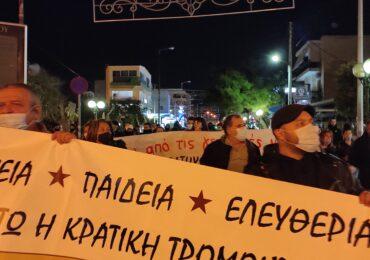 Μαζική διαδήλωση και στη Δάφνη