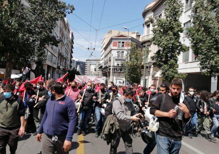 Πανεκπαιδευτική διαδήλωση χιλιάδων στην Αθήνα