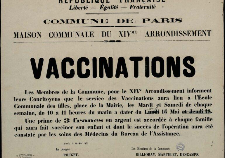 Τα εμβόλια τον καιρό της Παρισινής Κομμούνας