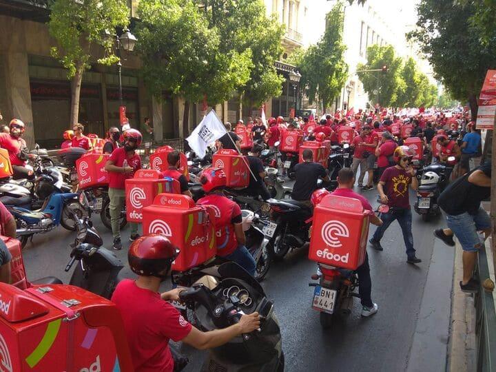 Οι εργαζόμενοι οδηγοί δικύκλων κλιμακώνουν τον αγώνα - 24ωρη Απεργία